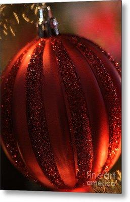 Ruby Red Christmas Metal Print by Linda Shafer