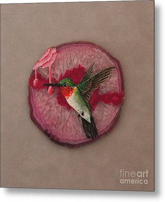 Ruby Throated Hummer Metal Print