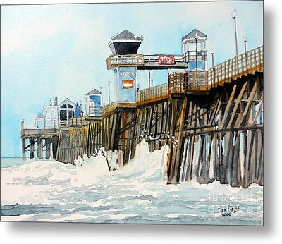 Ruby's Oceanside Pier Metal Print