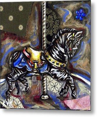 Ruby's Zebra Metal Print