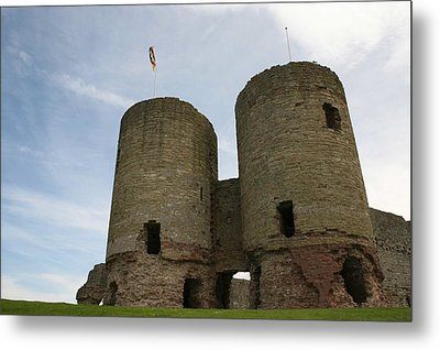 Metal Print featuring the photograph Ruddlan Castle by Christopher Rowlands