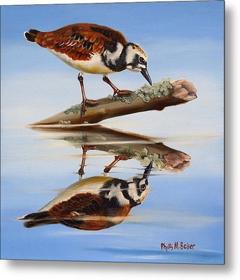 Ruddy Reflection Metal Print by Phyllis Beiser