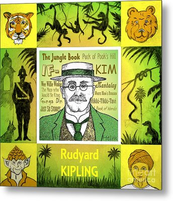 Rudyard Kipling Metal Print by Paul Helm