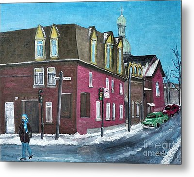 Rue Centre Pte St Charles Metal Print by Reb Frost