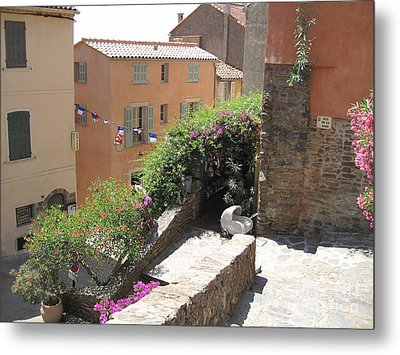 Metal Print featuring the photograph Rue De La Rose by HEVi FineArt
