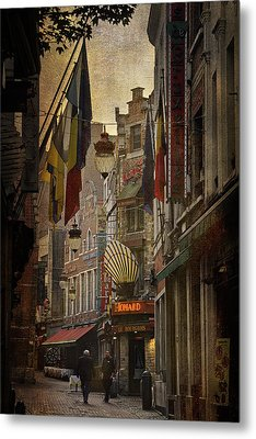 Rue Des Bouchers Metal Print