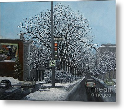 Rue St Jacques Metal Print by Reb Frost
