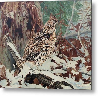 Ruffed Grouse Metal Print by Ken Everett