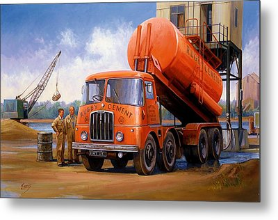 Rugby Cement Thornycroft. Metal Print