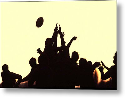 Rugby Line Out Metal Print