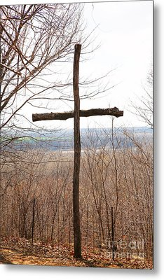 Rugged Cross Metal Print