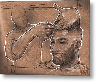 Rugged Shears Metal Print by The Styles Gallery