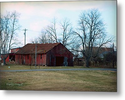 Rugged Shed II Metal Print by Paulette B Wright