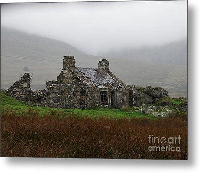 Ruined Cottage Snowdonia Metal Print