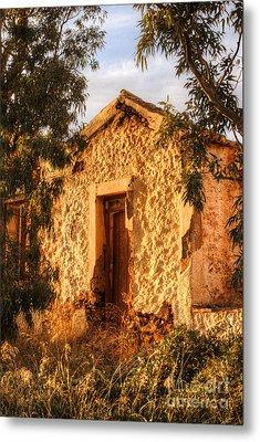Ruined Sounion House 8 Metal Print by Deborah Smolinske