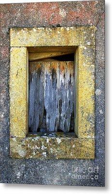 Ruined Window Metal Print by Carlos Caetano