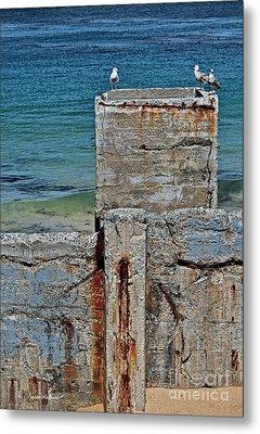 Ruins At Monterey Bay Metal Print by Susan Wiedmann