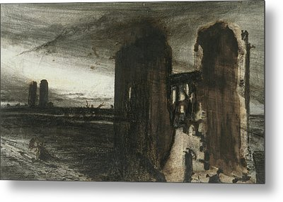Ruins In A Landscape Metal Print by Victor Hugo