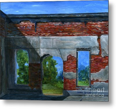 Ruins In Pleaant Hill Metal Print by Lenora  De Lude
