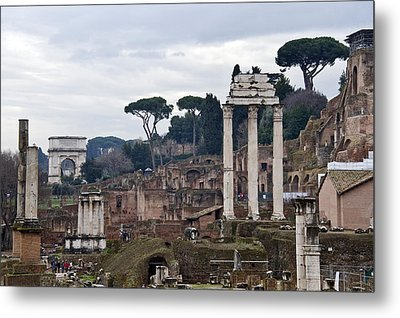 Ruins Of A Building, Roman Forum, Rome Metal Print by Panoramic Images
