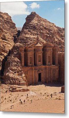 Ruins Of Ad Deir Monastery At Ancient Metal Print