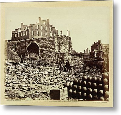 Ruins Of An Ammunition Store Metal Print by British Library
