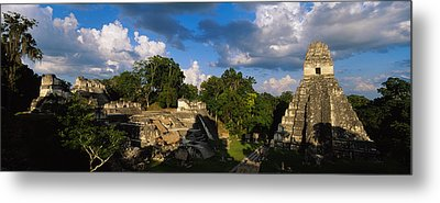 Ruins Of An Old Temple, Tikal, Guatemala Metal Print by Panoramic Images