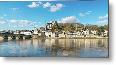 Ruins Of Chateau De Montrichard Castle Metal Print