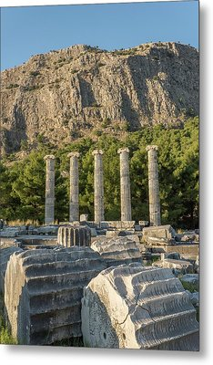 Ruins Of The Temple Of Athene Metal Print by David Parker