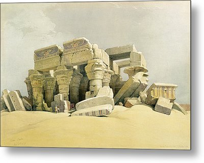Ruins Of The Temple Of Kom Ombo Metal Print by David Roberts