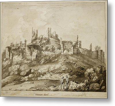 Ruins Of Wigmore Castle Metal Print