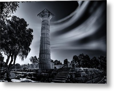 Metal Print featuring the photograph Ruins Of Zeus's Temple At Olympia by Micah Goff