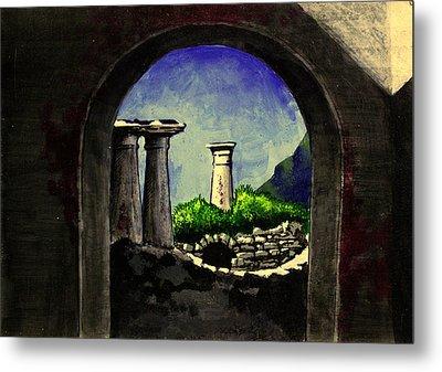 Metal Print featuring the painting Ruins by Salman Ravish