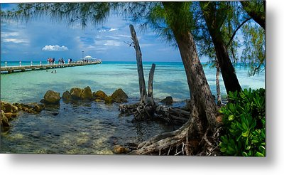 Rum Point Pier Metal Print by Gordon Engebretson