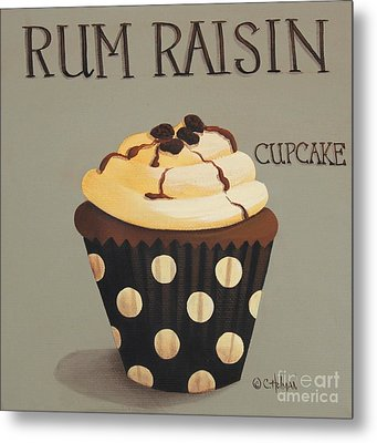 Rum Raisin Cupcake Metal Print by Catherine Holman