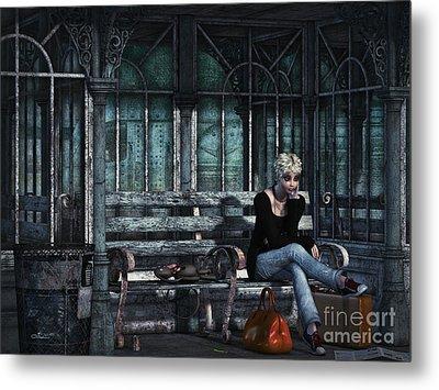 Run Away From Home Metal Print by Jutta Maria Pusl