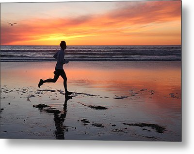Metal Print featuring the photograph Run Away by Nathan Rupert