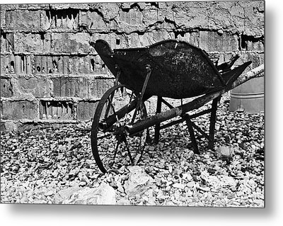 Run-down Wheelbarrow Metal Print