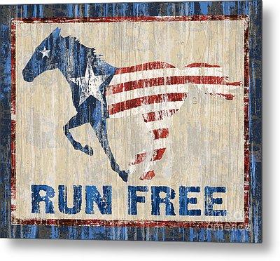 Run Free Metal Print by JQ Licensing