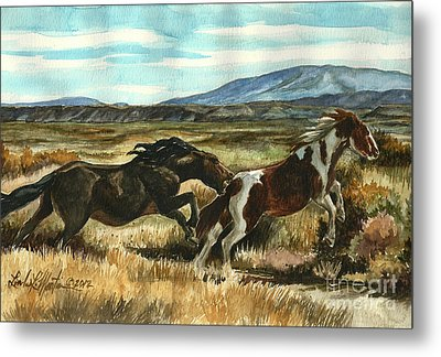 Run Little Horse Metal Print