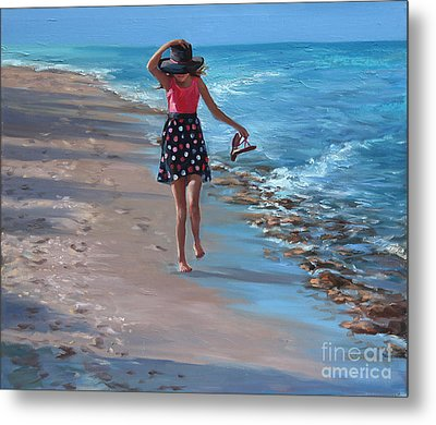 Run With Joy Metal Print by Laurie Hein
