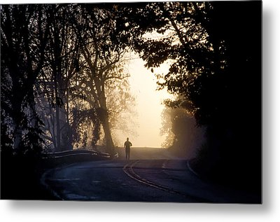 Running At Sunrise - Valley Forge Metal Print by Bill Cannon