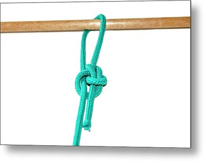 Running Bowline Knot Metal Print by Photostock-israel