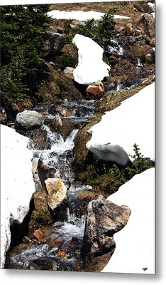 Running Down The Mountain Metal Print