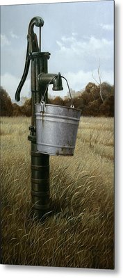 Metal Print featuring the painting Running Dry by William Albanese Sr