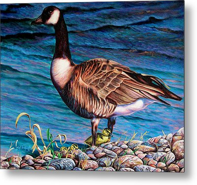 Metal Print featuring the painting Running For Cover by Craig T Burgwardt