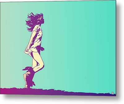Running Free Metal Print by Giuseppe Cristiano