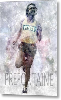 Running Legend Steve Prefontaine Metal Print