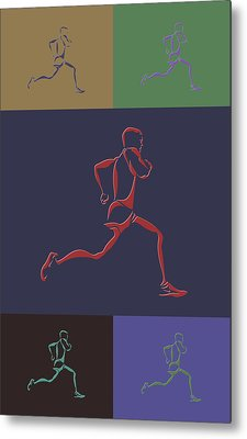 Running Runner Metal Print by Joe Hamilton