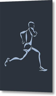 Running Runner12 Metal Print by Joe Hamilton